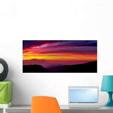 Amazon Com Wallmonkeys Sunrise Wall Decal Peel And Stick Graphic Wm160182 48 In W X 21 In H Home Kitchen