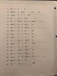 exercise 8 balancing equations name lab