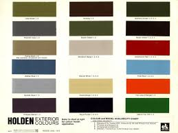posted image paint charts holden