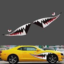 150 X 50cm Red Grey Shark Mouth Tooth Teeth Car Side Door Reflective Sticker Vinyl Buy At A Low Prices On Joom E Commerce Platform