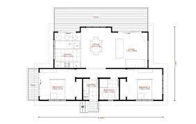 two bedroom one bathroom house plan