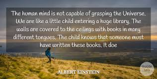 albert einstein the human mind is not capable of grasping the