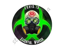 Firefighters Essential Worker Round Sticker Window Decal Etsy In 2020 Window Decals Cloud Stickers Vinyl Car Stickers