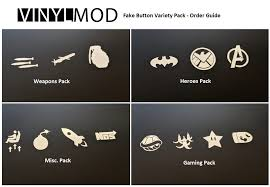 Universal Blank Button Decals Vinylmod Variety Packs Vinylmod