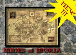 Moria Map Middle Earth Map Canvas Print Fantasy Wall Art Home Decor Geek Map Ebay