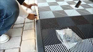 install vented xl modular garage tiles