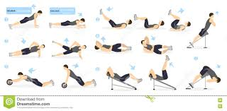 Abs Workout Stock Illustrations – 2,161 Abs Workout Stock Illustrations,  Vectors & Clipart - Dreamstime