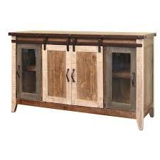 antique barn door 60 inch tv stand ifd