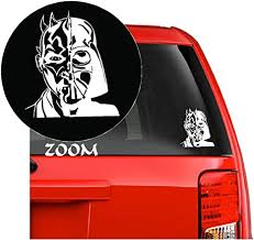 Amazon Com Star Wars Anime Vinyl Decal Sticker For Car Window Laptop Wall Room Darth Maul Darth Vader Mask 5 5 Inches White Arts Crafts Sewing