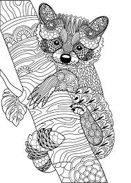 809 Best Animal Coloring Pages For Adults Images On Fox Coloring