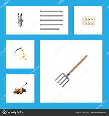 Flat Icon Dacha Set Of Cutter Hay Fork Wooden Barrier And Other Vector Objects Also Includes Pump Tool Fence Elements Stock Vector C Gigavector 162918786