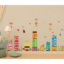 Shop Chezmax Diy Cartoon Animals Wall Decals Wall Stickers Removable Mural Decor For Kids Nursery Bedroom Living Room Overstock 29093567