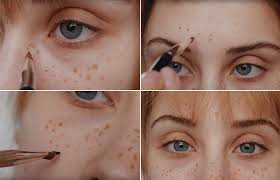 how to fake freckles with makeup