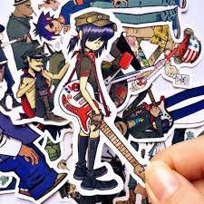 10pcs Blur Band Gorillaz Cool Sticker Decal For Kids Toys Car On Laptop Bicycle Suitcase Notebook Skateboard Waterproof Stickers Stickers Aliexpress