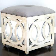 mirrored storage ottoman mirrored cube