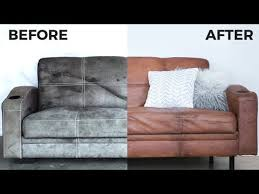 diy leather couch how to paint on