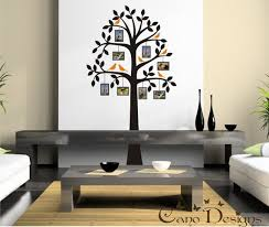 Tree With Photo Frames And Birds Vinyl Wall Decal Tree Frame Etsy