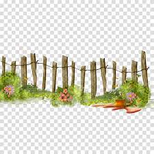 Brown Wooden Fence Fence Flower Garden Gardening Transparent Background Png Clipart Hiclipart