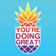 Pineapple Sunset Sticker You Re Doing Great Clothing Apparel