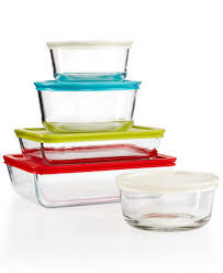 set or 8 piece glass mixing bowl