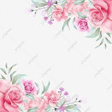 خلفية مائية ناعمة جميلة خلفية شفافة زهور حفل زواج رسالة دعوة