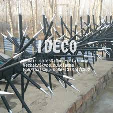 Anti Climb Fence Spikes Rotatable Spikes Rotary Security Razor Spikes Rotating Wall Toppings Spikes