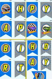 Hot Wheels Happy Birthday Banner Fiesta De Hot Wheels Fiesta De