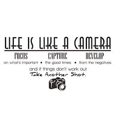 Amazon Com Iuneed Life Is Like A Camera Wall Sticker Wall Decal Home Decor Quote Vinyl Room Wall Quotes Decals Wall Stickers Home Decor Camera Quotes