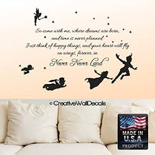 Funk N Creative Design With Peter Pan Wall Quotes