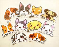 Dog Stickers Animal Sticker Kawaii Sticker Laptop Decal Etsy Dog Stickers Animal Stickers Cute Dogs