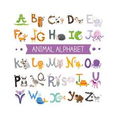 Gobestart Animal Alphabet Abc Kids Wall Stickers Peel For Kids Nursery Room Decor Walmart Com Walmart Com