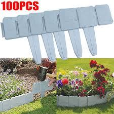 Au 100pcs Stone Effect Plastic Garden Fence Lawn Edging Yard Path Plant Border For Sale Online Ebay