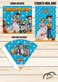 Kit Imprimible Toy Story 4 Nuevo Tarjeta Invitacion Candy 230