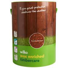 Wilko Wax Enriched Timbercare Forest Brown Exterior Wood Paint 5l Wilko