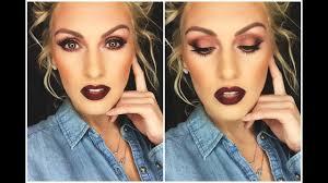 fall makeup tutorial hazel green blue