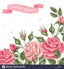 Fondo Con Vintage Roses Retro Decorativas Flores Imagen Para