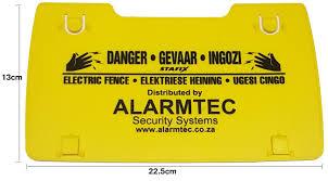 Warning Sign Alarmtec Wsign Jva Electric Fence Alarmtec Pty Ltd