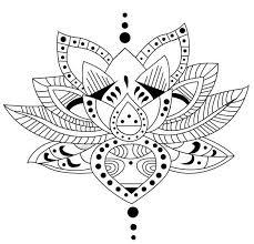 Kleuren Voor Volwassenen Tatoeage Mandala Kleurplaten Bloem