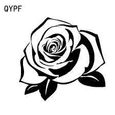 Qypf 15cm 14 5cm Delicate Cute Bright Red Rose Intricate Ordinary Vinyl Trend Graphics Decal Car Sticker C18 0589 Car Stickers Aliexpress