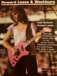 Heart, Howard Leese, Washburn Guitars, Full Page Vintag