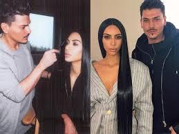 kim kardashian makeup artist contouring