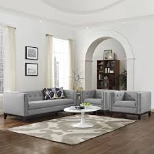 living room set set of 3 light gray