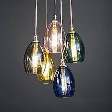 glass cer pendant light