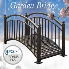 garden bridge powder coated steel