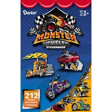 Darice Sticker Book For Kids Monster Vehicles 212 Stickers