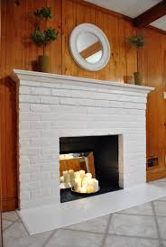 prime and paint a brick fireplace