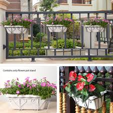 Balcony Multifunction Iron Art Durable Home Potted Plant Fence Displaying Porch Hanging Railing Flower Pot Holder Lazada Ph