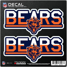 Chicago Bears 6 X 6 Two Tone Repositionable Decal 2 Pack Set