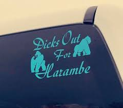 Harambe And Bantu Car Decal Window Decal 2 Patterns Etsy