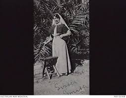 MENA, EGYPT. 1915. SISTER ADA SMITH, PROBABLY IN THE GARDEN AT ...